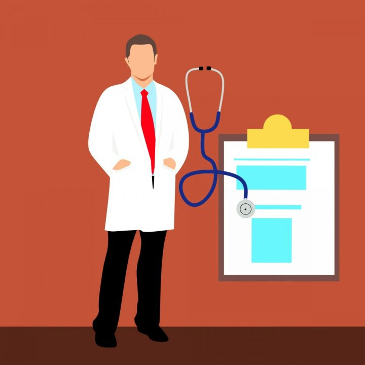 kuvassa on piirros lääkäristä