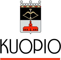 Kuvassa on Kuopion vaakuna ja logo